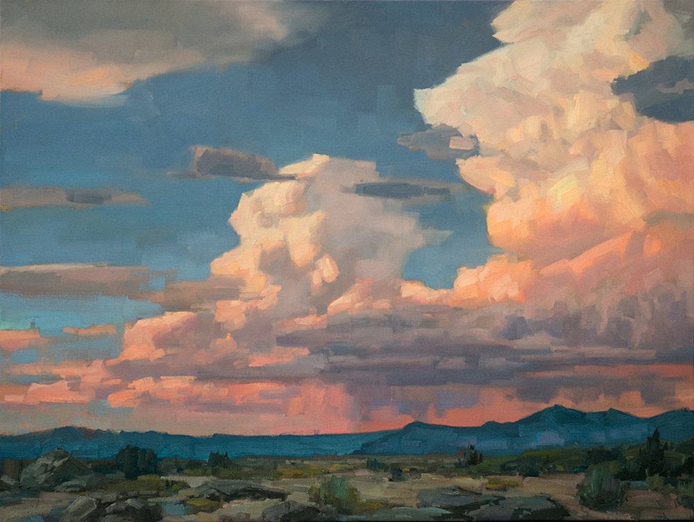 Late Summer Thunderheads, 30 x 40, oil on canvas