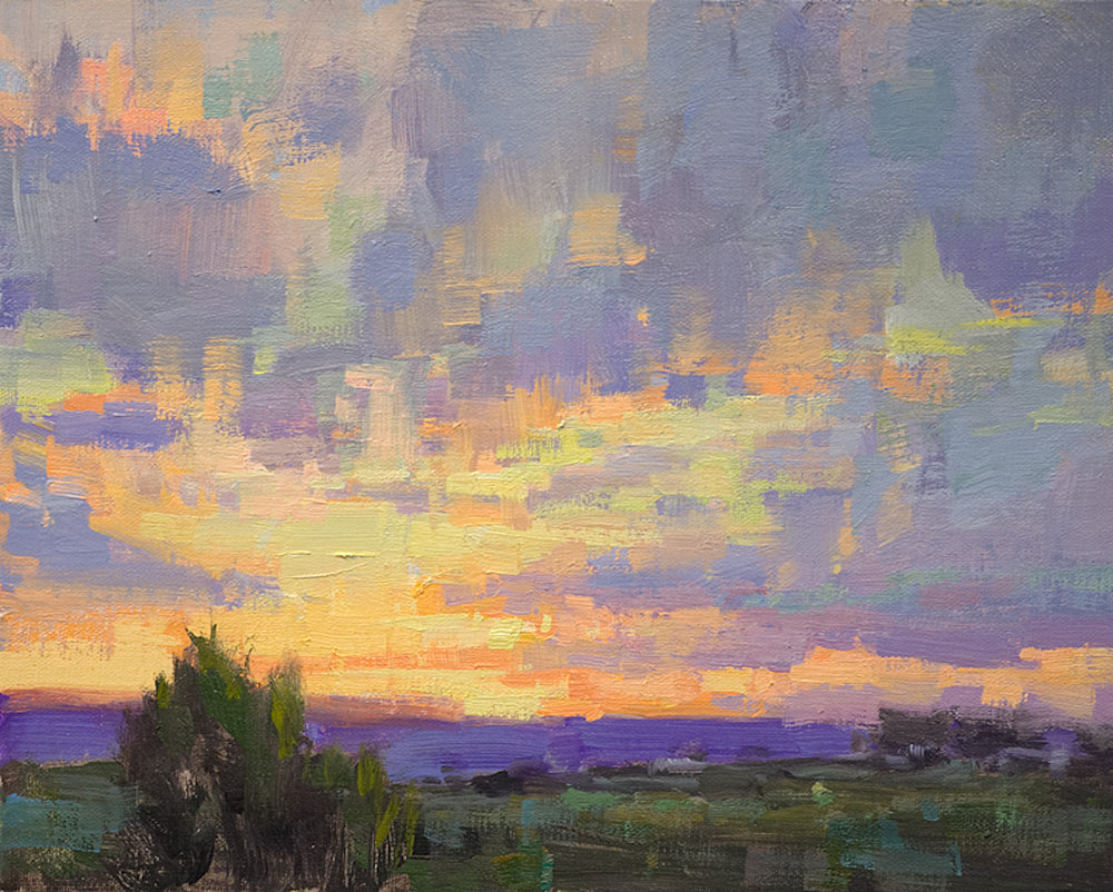 *sold* Western Sunset, 8 x 10, oil on canvas
