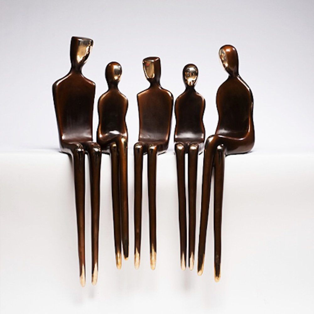 "42"" customizable figurines, bronze"