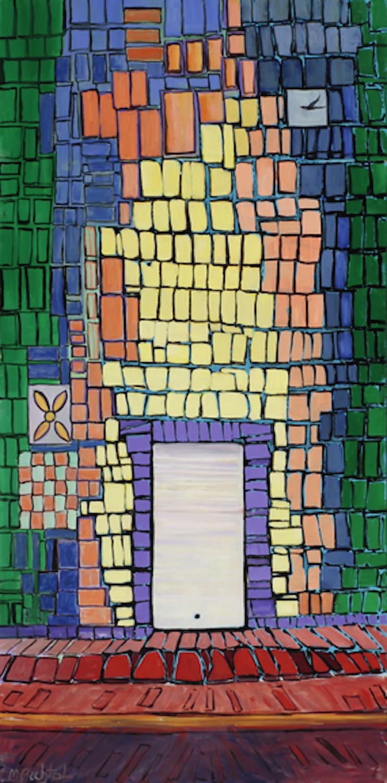 Tiled Doorway, 48 x 24, oil on canvas