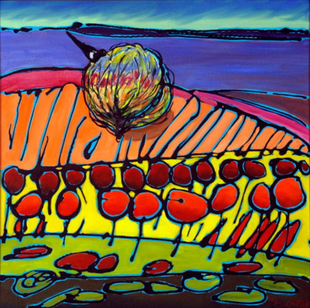 Tumbleweed 11, 24 x 24, oil on canvas