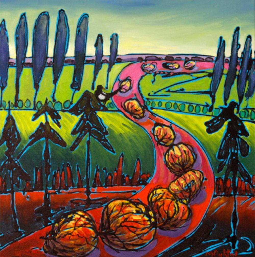 Tumbleweed 12, 24 x 24, oil on canvas