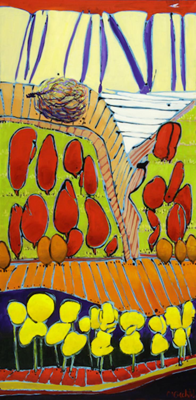 Tumbleweed 15, 48 x 24, oil on canvas