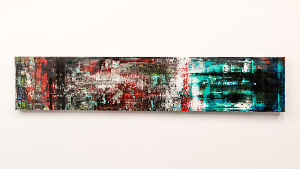 Bold Series, New York #1, 16 x 80, acrylic and resin on board