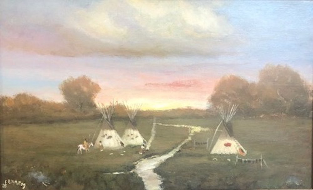 Comanche Camp Morning, 10 x 16, oil on panel, 2013