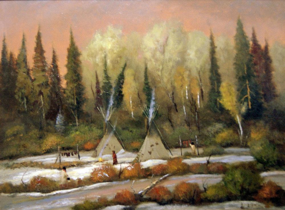 Winter in Lakota Land, 18 x 24, oil on linen