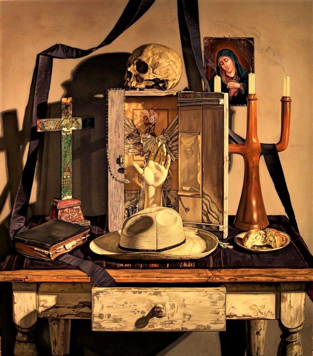 Altar, 40 x 35, oil on canvas