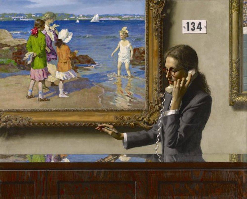Lot 134 - The Water's Fine (Potthast), 40 x 50, oil on linen