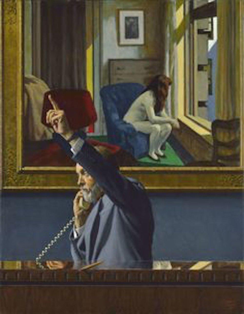 Eleven A.M.- Hopper, 51 x 40, oil on wood