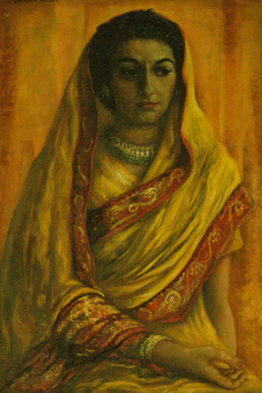 Santha Rama Rau, 28 x 19, oil on canvas