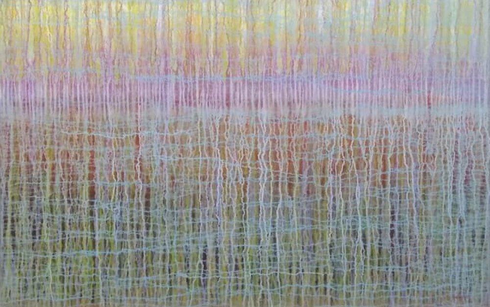 Oceanos del Alma (Oceans of the Soul), 45 x 70.5, acrylic on canvas