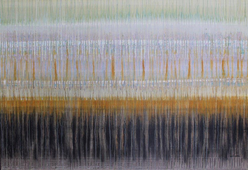 Audible 0008 Sonidos del Silencio (Audible 0008 Sounds of Silence), 40 x 58, acrylic on canvas