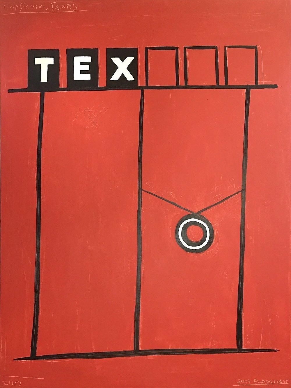 Tex(aco), 48x36, oil and acrylic on canvas