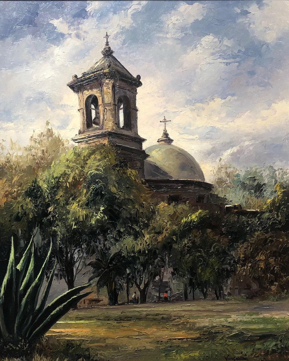 San Jose Mission, 30 x 24, oil on board