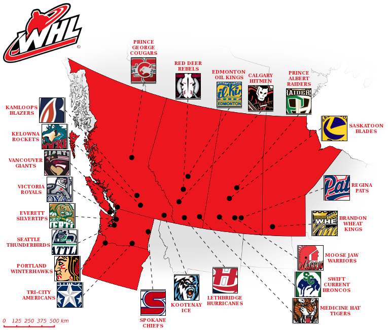 The Western Hockey is a Major Junior League in Western Canada  whl.ca