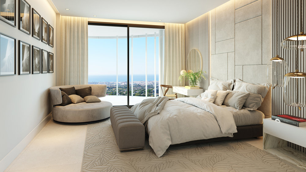 The-view-marbella-Bedroom-sea-View