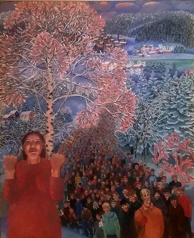 """Inari Krohn """"Työttömien armeija"""", 1978."""