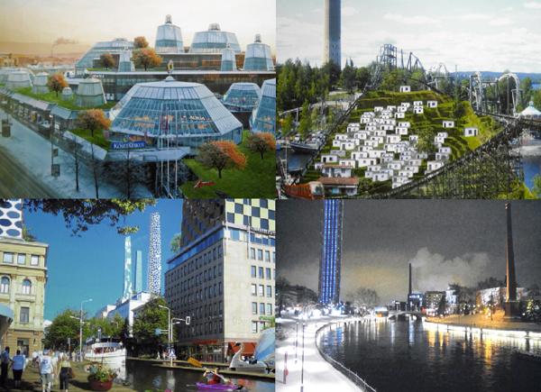 Koskikeskus, Särkänniemi, Hämeenkatu ja Ilves-hotelli muuttuvat epärealistisiksi, mutta mielenkiintoisiksi, 2010-luvun arkkitehtuurisen luovuuden mallikappaleiksi.