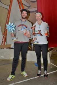 Mr. Pagonis and Mrs. Piaskowy won the Double Flurry, which consisted of running and winning both the 1-mile and the 5k races! Thank you to the McDonald's in Golden for donating the McFlurries to award to our winners!