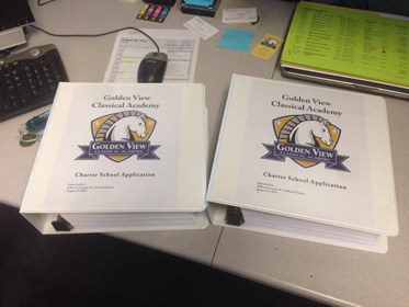 The Golden View Classical Academy Charter Application submitted to Jefferson County Schools