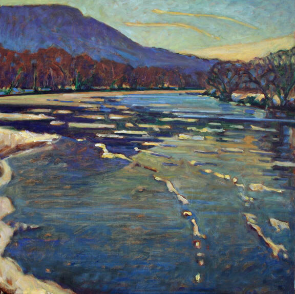River Ice Floes 2, 24x24, 2010, oil on panel - Christopher Stephens.jpg