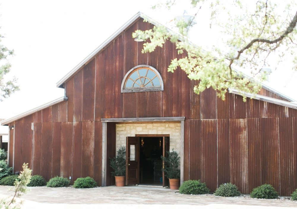 Heritage Haus hill country barn wedding venue