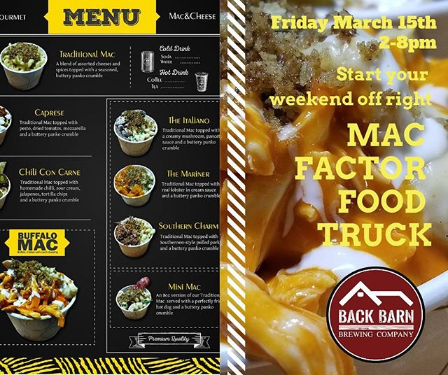 🚨 Calling all foodies 🚨  Come out this Friday for @the_mac_factor 🍻  #foodie #craftbeer #drinklocal #drinkny #beer #brewery #craftbrewery #craftbrewing