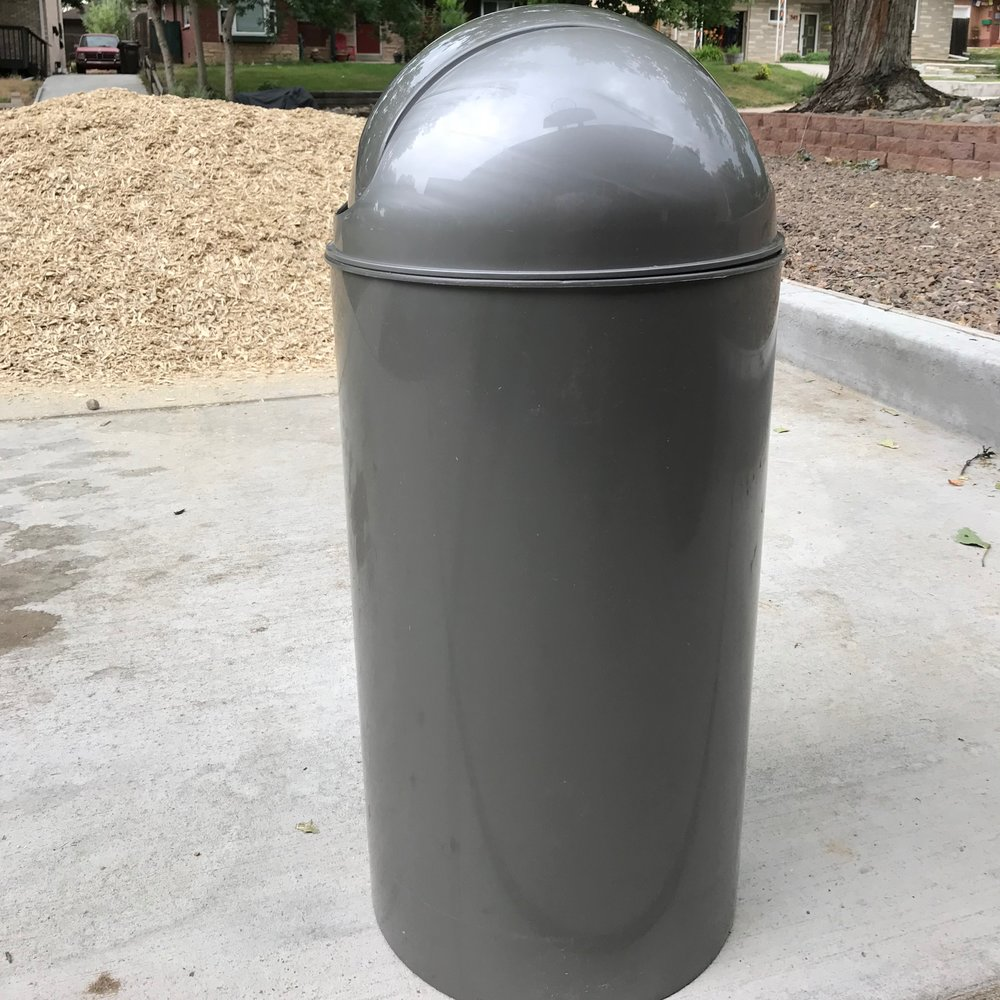 56 Quart Swing Bin Trash Can in Silver: $14.99 from At Home