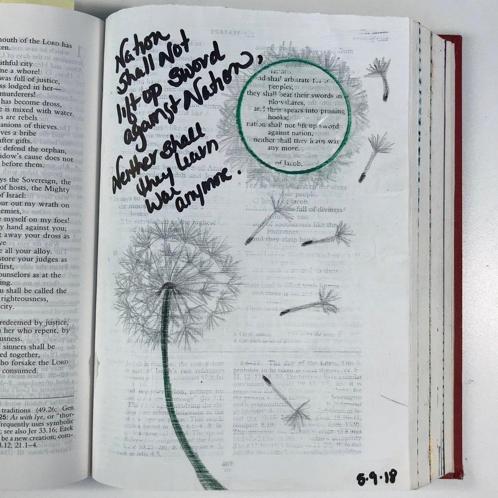 Isaiah 2: 4 | Gesso, Pen, Pencil