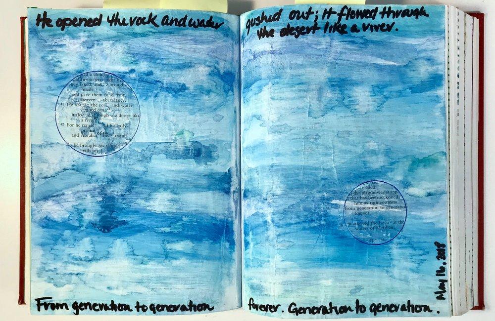 Psalm 105 | Watercolor, Marker, Pen