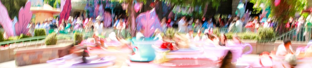 Alice in Wonderland's Tea Cup ride at Disneyland   Anaheim, California