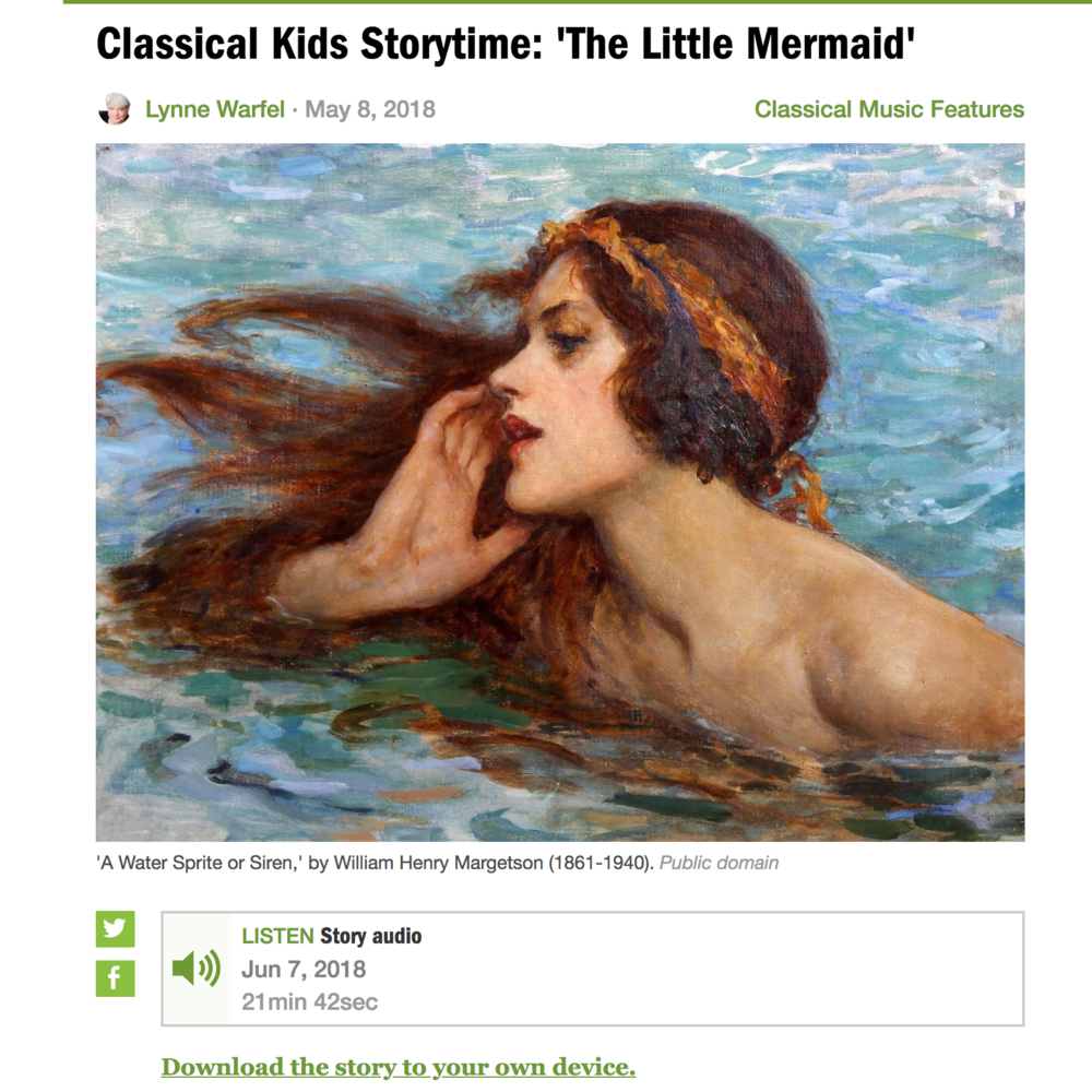 Great Stories for the Car That won't Make You Crazy  Classical Kids Storytime from MPR is a fabulous source for free downloadable stories that children and adults alike will love. Great for long car trips!