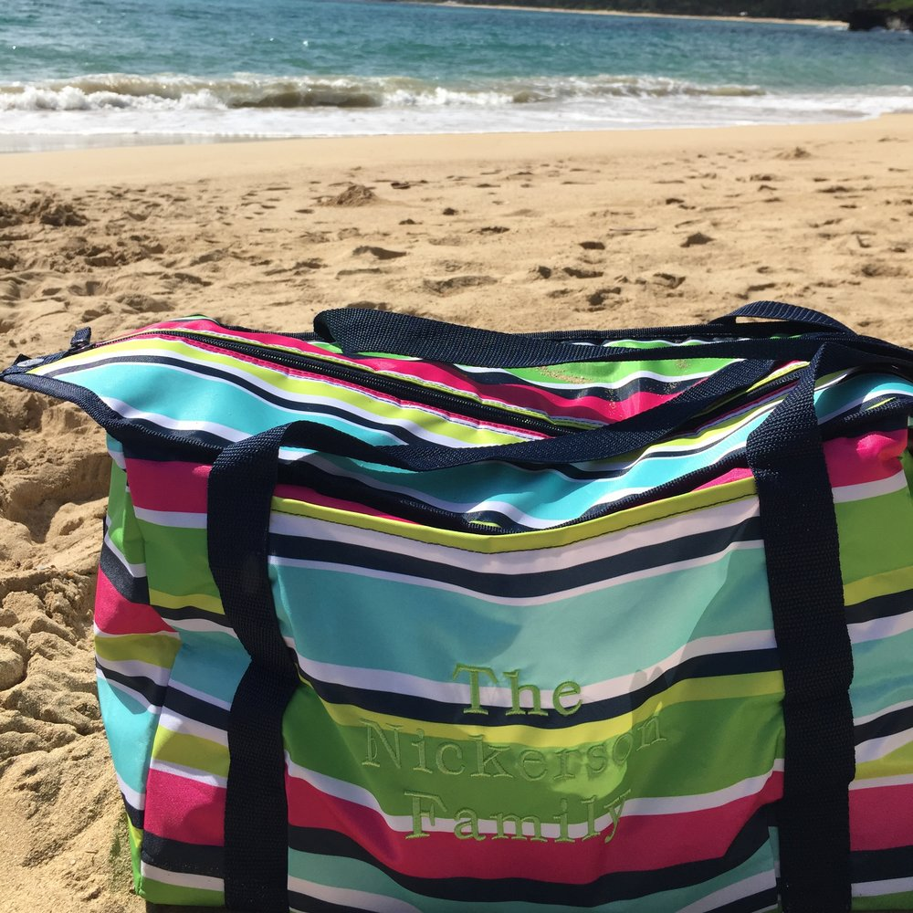 Best Family Beach Bag  We have taken this bag to Hawaii, on picnics, to swim meets. It is a fantastic cooler bag that does triple duty!