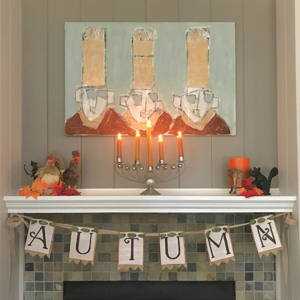 - Instructions and printables to make this sweet autumn garland for hearth or door.