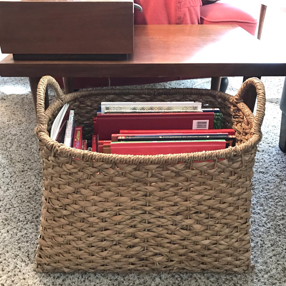 One of our book baskets