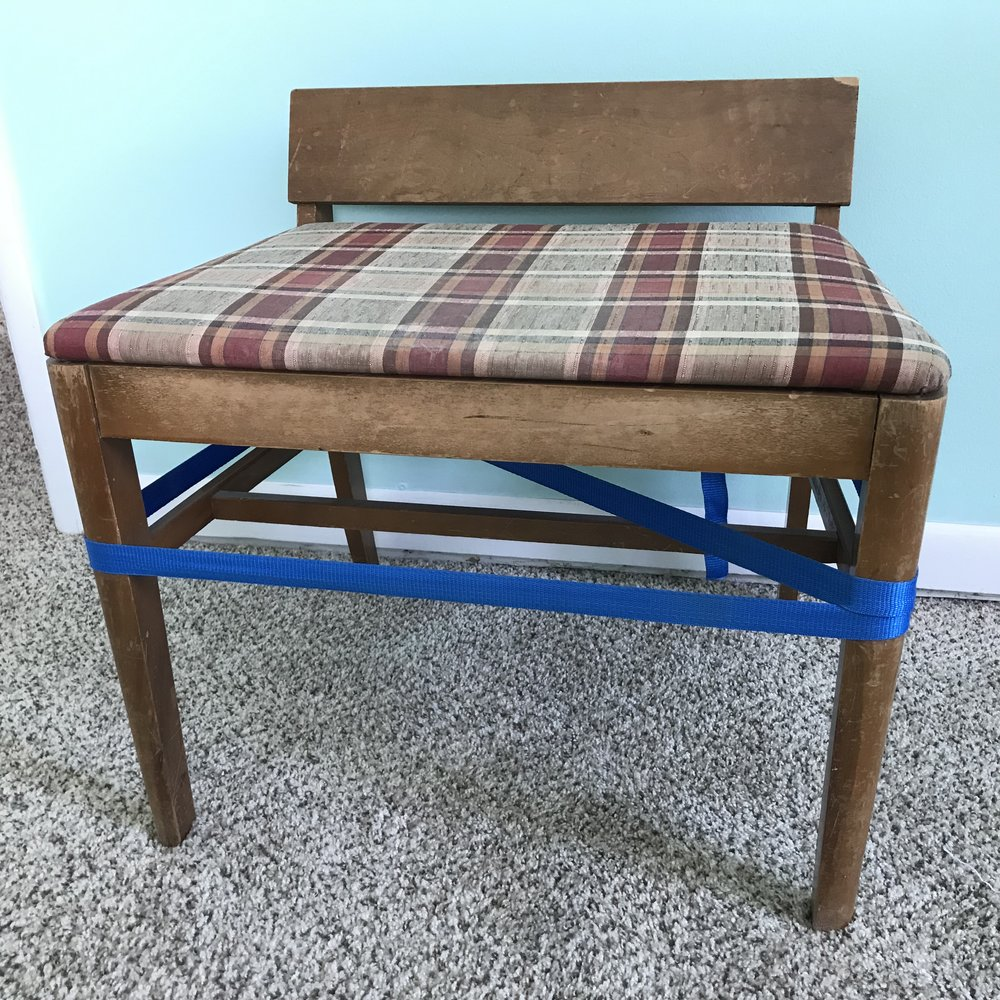 Mid Century dressing table bench