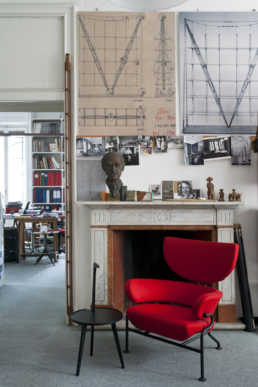 Franco Albini's studio in Milan, now open to the public as the Franco Albini Foundation.