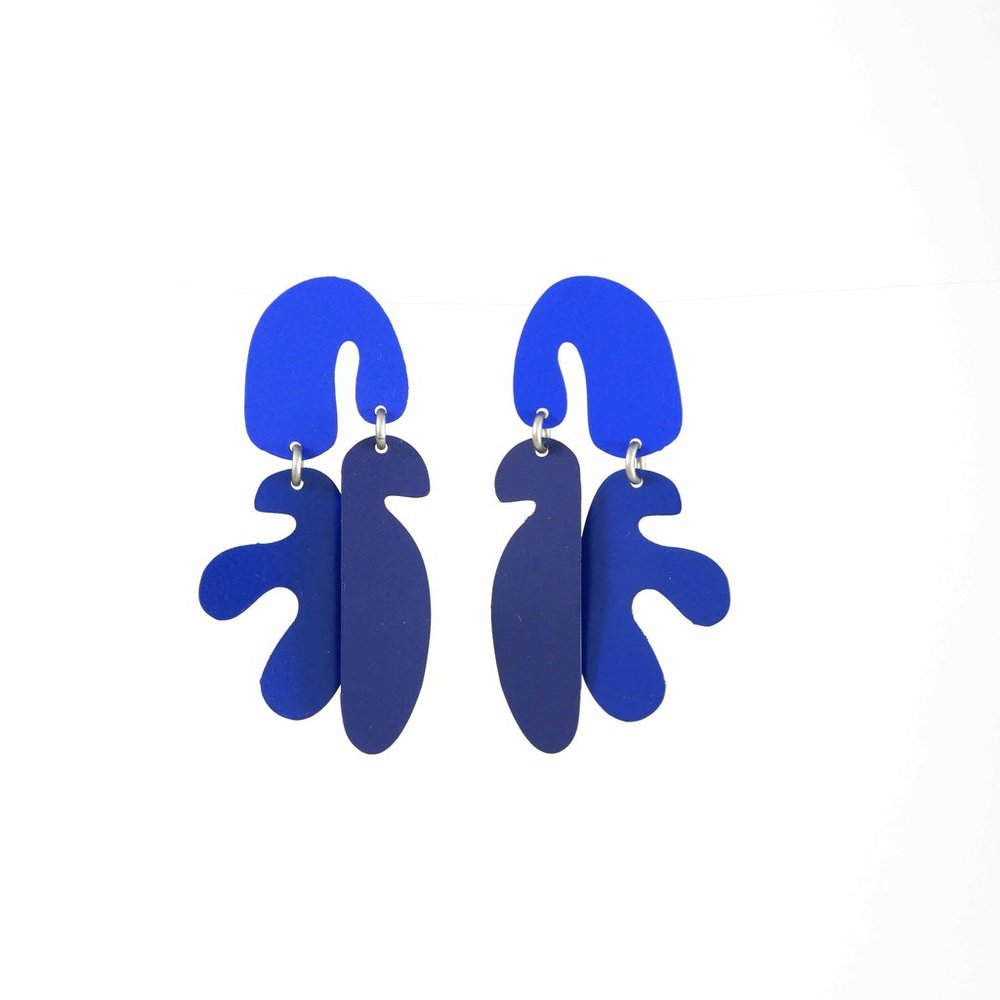 Mimosa Earrings, Navy , Burke Decor | $97