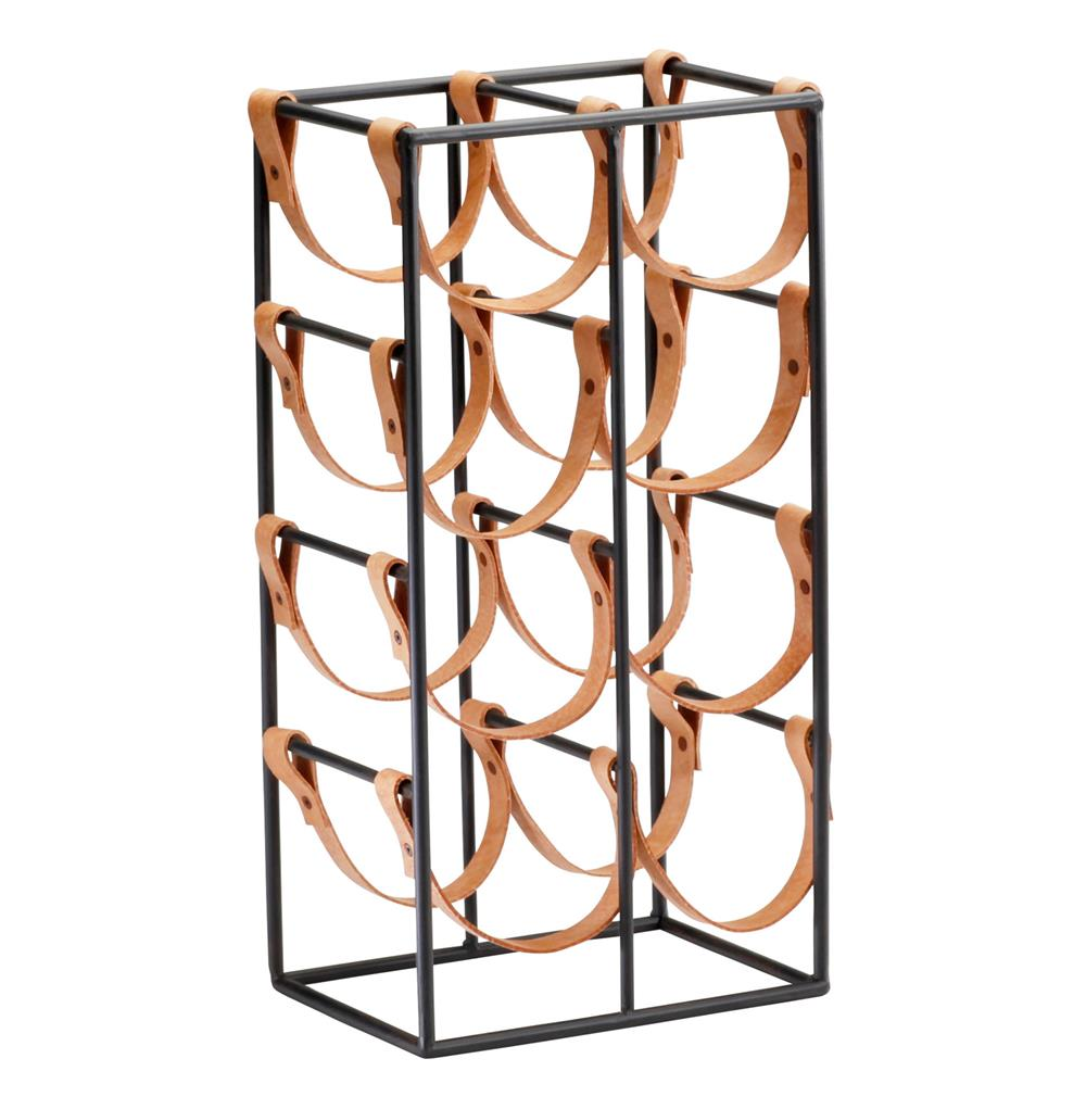 Leather and Iron Wine Rack , Kathy Kuo Home | $98