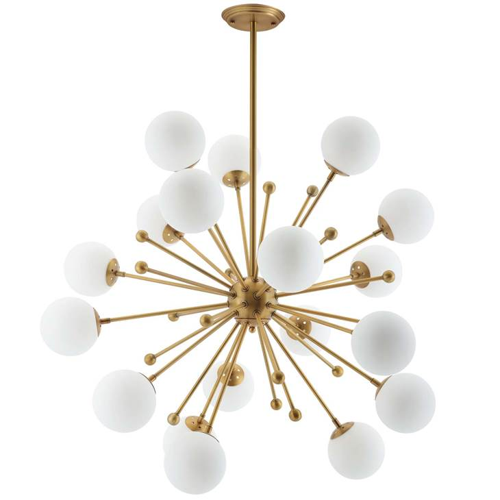 Glass and Brass Pendant Chandelier , LexMod | $487