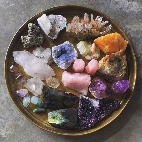 Crystals: maybe they work, maybe they don't.  via pinterest