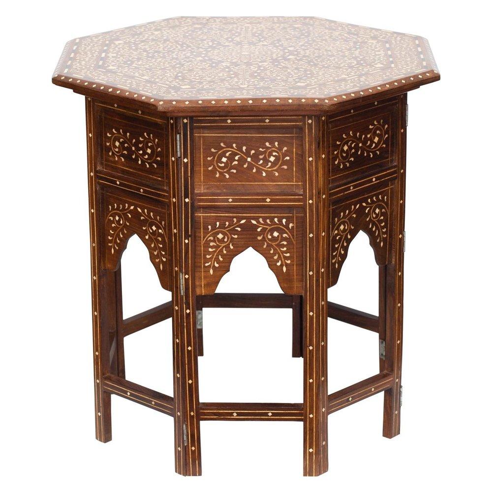 Bone inlay table , John Robshaw | $2,075