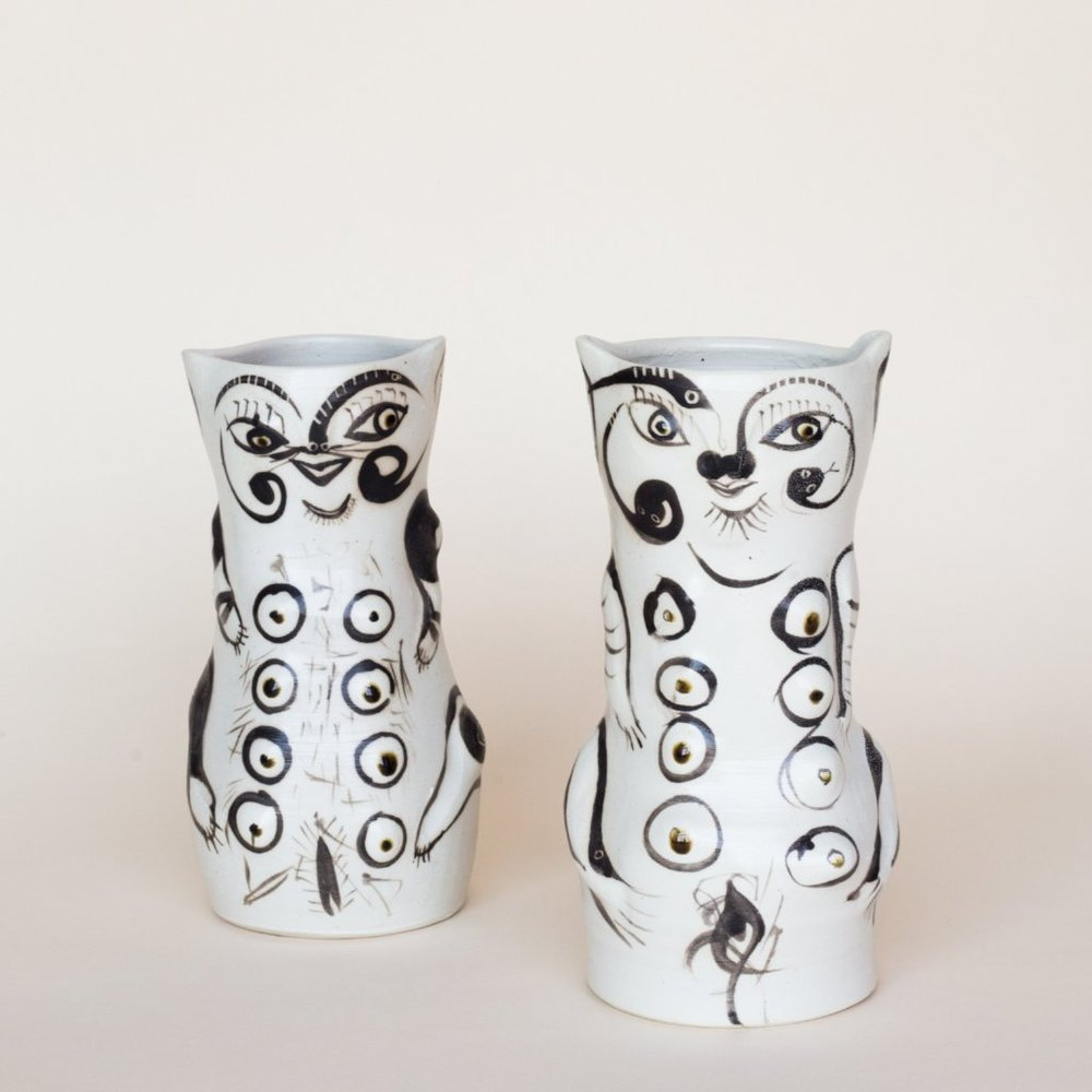 Mama Cat Vases by Fred Johnston , East Fork | $350 (each)