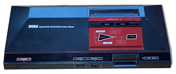 Sega Master System, picture taken by Wikimedia user Eike and licensed under the GFDL.