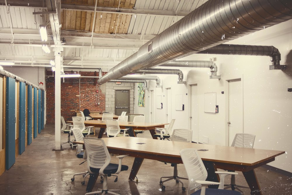 Join the Co-Working Space   We offer an open-floor work environment oriented towards start-ups, remote networking, and freelancers; anyone looking to grow their business and collaborate with the community's dynamic collection of local, independent artists and collectives.