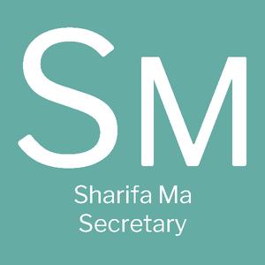 SM, Sharifa Ma, Secretary