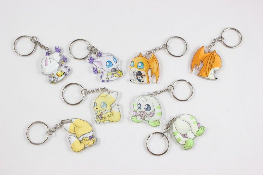 - Digimon: Gatomon, Patamon, Renamon, Terriermon