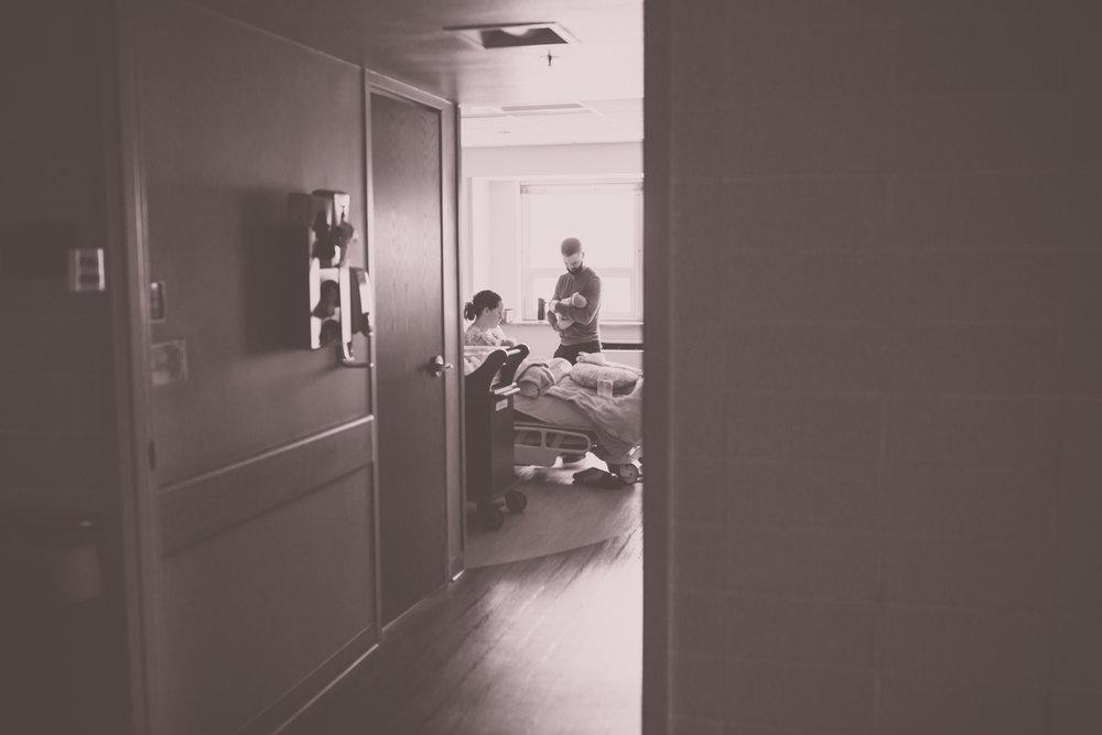 newborn lifestyle hospital fresh 48 Session Cara Peterson Photography Rockford IL-9.jpg