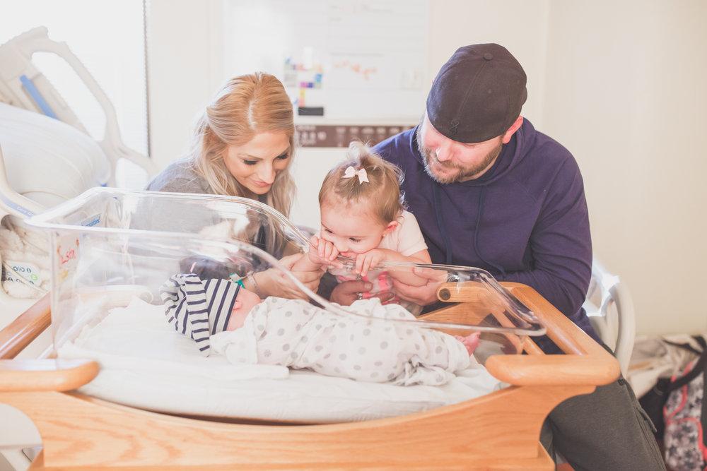 newborn Maternity winter studio lifestyle home hospital fresh 48 Session Cara Peterson Photography Rockford IL-1-6.jpg
