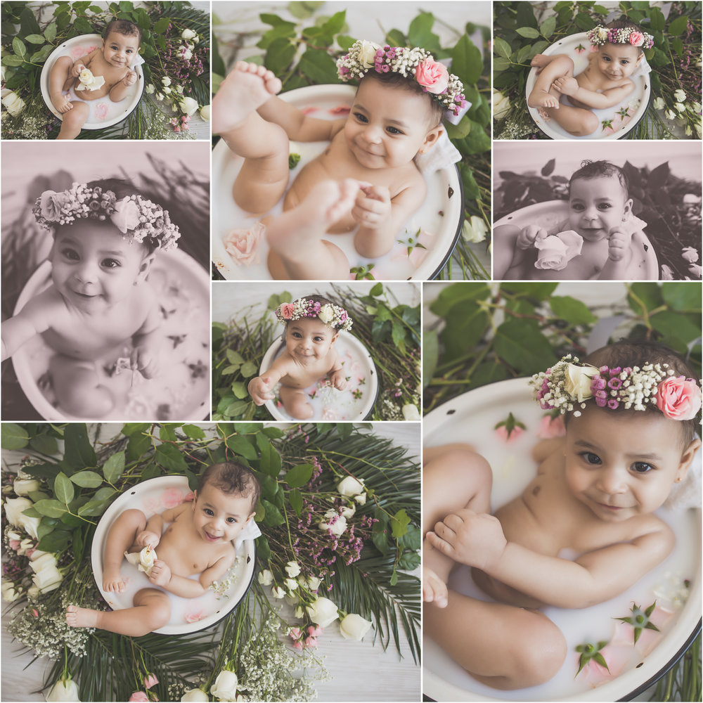 3 Amaya Milk Bath Session sitter milestone 6 months 7 Cara Peterson Photography collage Rockford IL -70.jpg